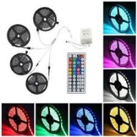 Supli 20M (45M) 5050 RGB 600-LED Strip Flexible Tape String Lights Not Waterproof DC 12V with 44 KEY IR Remote Controlle|escape:'html'