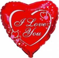 Шарики фольгированные «I love you» escape:'html'