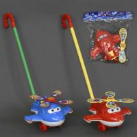 Каталка 0369 (72) «СУПЕР КРЫЛЬЯ» на палочке, 2 цвета, с погремушкой, в кульке|escape:'html'