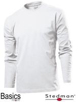 Футболка с длинным рукавом мужская оптом SST2130 белая|escape:'html'