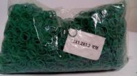 Резинки для вязания зелени  №15 ( зеленая )1 кг «Plast» (1 пач)