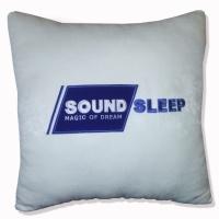 Вышивка логотипа или слоган фирмы на подушке. Именная вышивка на заказ