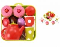 Набор посуды игрушечный с пирожными, 12 аксессуаров