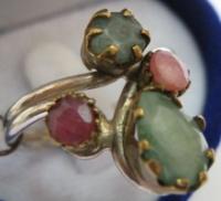 Серебряное кольцо 925 ИЗУМРУДЫ, РУБИНЫ размер 19|escape:'html'