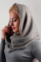Снуд женский, шарф AG-0002676 Светло-серый