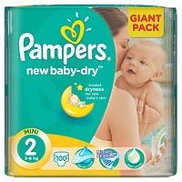 Подгузники Pampers New Baby-Dry Mini 2, 100 шт.|escape:'html'