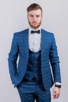 Стильный мужской пиджак в клетку AG-0003045 Синяя клетка|escape:'html'