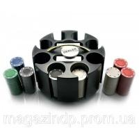 Покерный набор (2 колоды карт +200 фишек)(20х20х11,5 см)(вес фишки 4 гр. d-39 мм) Код:23715|escape:'html'