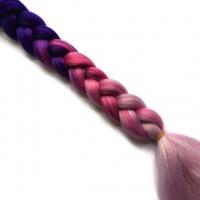 Канекалон Омбре (боксерские брейды, искусственные цветные волосы, цветные косы) Омбре №53