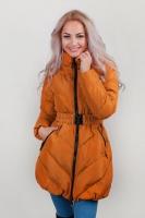 Куртка женская зимняя, пуховик стеганый AG-0002629 Горчичный
