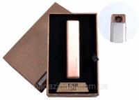 USB зажигалка в подарочной упаковке (спираль накаливания, оранжевый) №4822-4 Код:627504448 escape:'html'