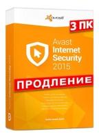 avast! Internet Security 2015, продление лицензии, на 12 месяцев, на 3 ПК escape:'html'