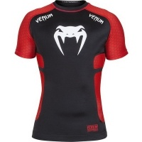 Рашгард Venum «Electron 2.0» Rashguard - Black - Short Sleeves