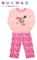 Пижамы детские для девочек «Розовый Щенок» хлопок, бренд «Morrisons Nutmeg» (Англия)|escape:'html'