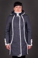 Женская стеганная куртка Серая
