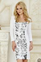 Платье Цветы на белом [Размер:: xs (42)]|escape:'html'