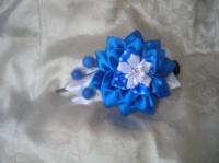 Заколка для волосся в техніці канзаші з атласних стрічок. Автор handmade Христина Борисовська