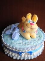 Торт из подгузников « зайка Ляля»|escape:'html'