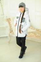 Стильная, модная осенняя,демисезонная белая куртка-парка на девочку. escape:'html'
