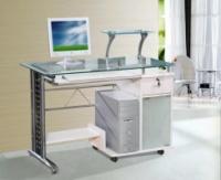 Стол компьютерный VS-21. Материал МДФ и калёное стекло.