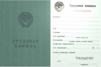 Бланк Трудовая Книжка, чистая, Гознак 1974, для восстановления записей.