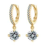 Серьги «Tiffany & Co» позолоченные с кристаллами swarovski|escape:'html'