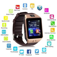 Умные Смарт часы Smart Watch DZ09 gold