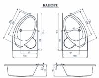 Акриловая ванна Cersanit Kaliope 1530x1000х450мм (Правая)|escape:'html'
