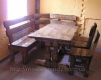 Стол и стулья деревянные escape:'html'