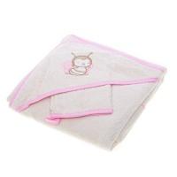 Уголок для купания с рукавичкой Mioo Honey Love, розовый (UM 1 HL)