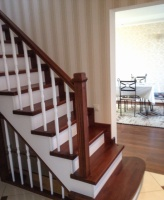 Лестницы деревянные, отделка бетонных лестниц деревом, заграждения escape:'html'
