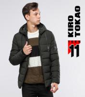 11 Киро Токао | Куртка подростковая на зиму 6009-1 зеленый