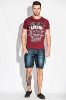 Шорты мужские джинс до колена AG-0005981 Темно-синий escape:'html'