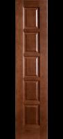 Дверное полотно «КВАДРО»  (цвет-каштан)  2000*40*400 мм. escape:'html'