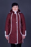 Стеганная женская куртка большие размеры Вишня escape:'html'