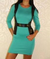 Платье женское жилетка кожа|escape:'html'