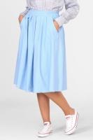 Пышная джинсовая юбка в голубом цвете
