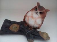 Декор для сада «Полярная сова на ветке» escape:'html'