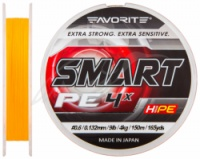 Шнур Favorite Smart PE 4 x 150 м (салат) - (оранж) #0.4/0.104 мм 3 кг|escape:'html'