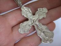 Большой серебряный крест под широкую цепь серебро 925 проба|escape:'html'
