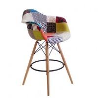 Барное кресло Пэрис Вуд Пэчворк (Paris Wood Patchwork)|escape:'html'