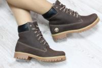 Зимние натуральные кожаные ботинки