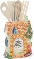 Подставка «Домик в деревне» 15х8х20см для кухонных принадлежностей|escape:'html'