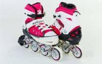 Роликовые коньки раздвижные  ZELART Z-823P (р-р 34-37, 38-41) (PL, PVC, колесо PU, алюм. рама, розовый)|escape:'html'