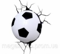 Светильник Футбольный мяч 3D в стене Код:109-1083294