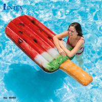 Надувной пляжный матрас мороженное Intex 58751 (надувной плотик эскимо арбуз): размер 191х76см