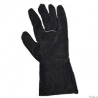 Перчатки с крагами кожанные (спилок), перчатки для сварщиков|escape:'html'