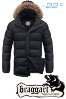 Куртка подростковая зимняя с растущим рукавом Braggart Teenager - 7653 черная
