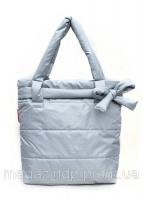 Болоньевая сумка на синтепоне серая Bow Код:103596|escape:'html'