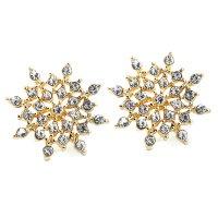 Серьги «Snowflake» позолоченные с кристаллами swarovski|escape:'html'